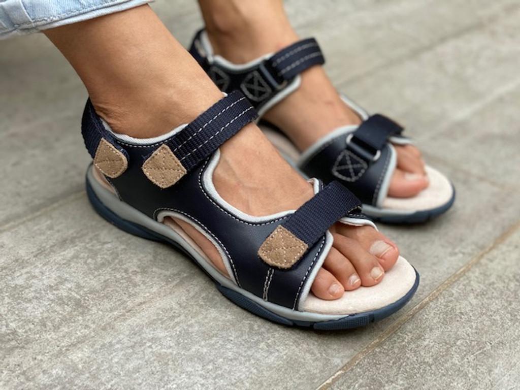 James Boys Adjustable Leather Sandal
