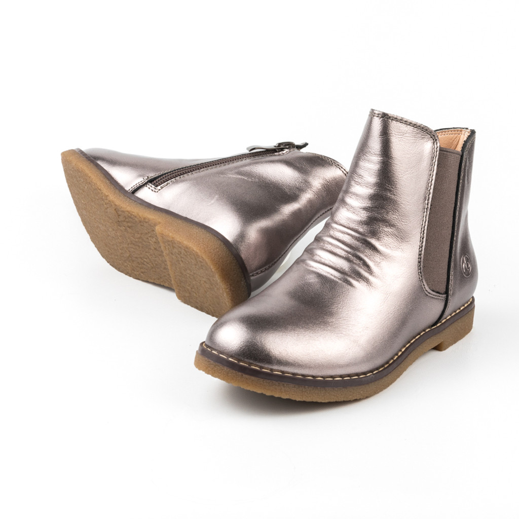Sacha Girls leather ankle boot - Bronze
