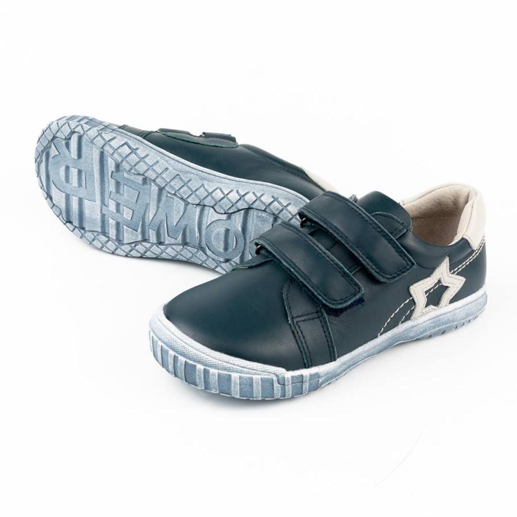 Bill Boys Double Velcro shoe - Navy