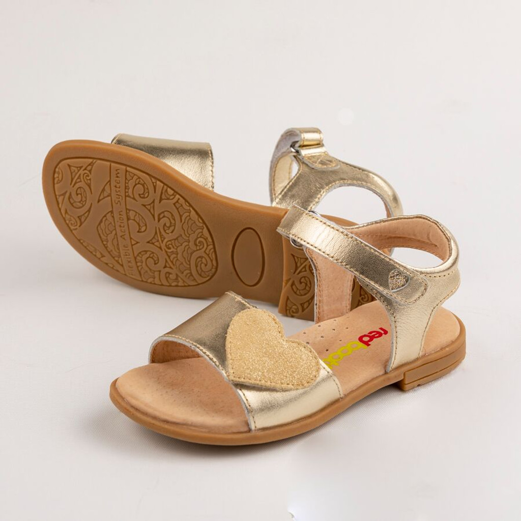 Georgia Girls Adjustable leather Sandal - Gold