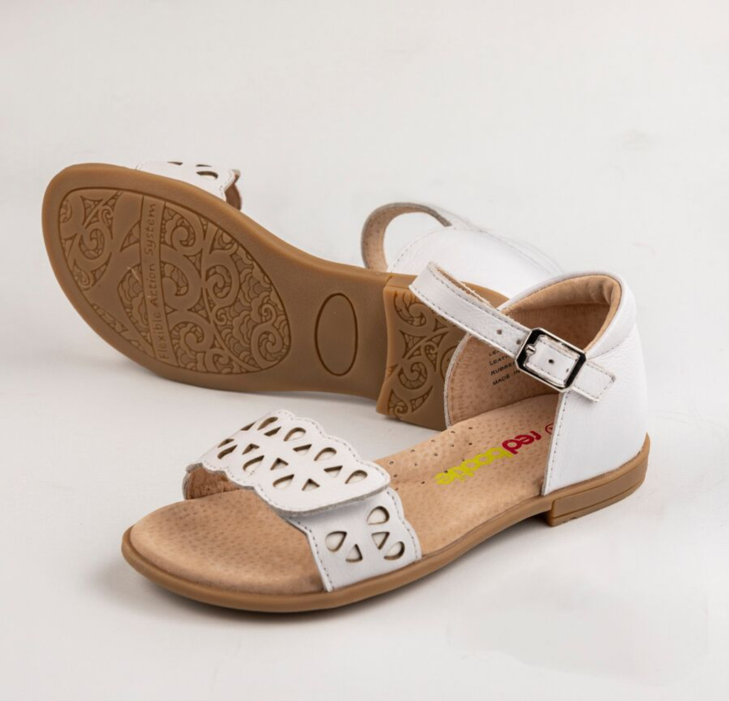 Makalie Girls Sandal  - White