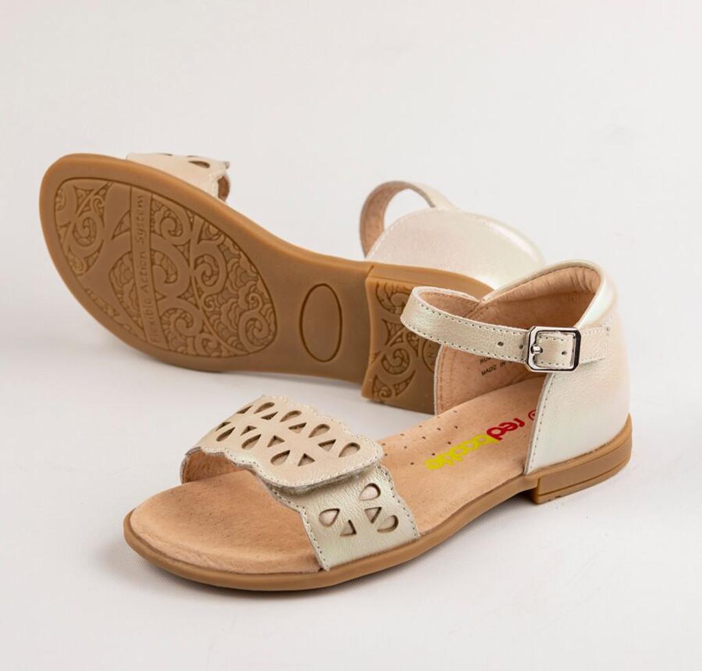 Makalie Girls Leather  Sandal  - Nude