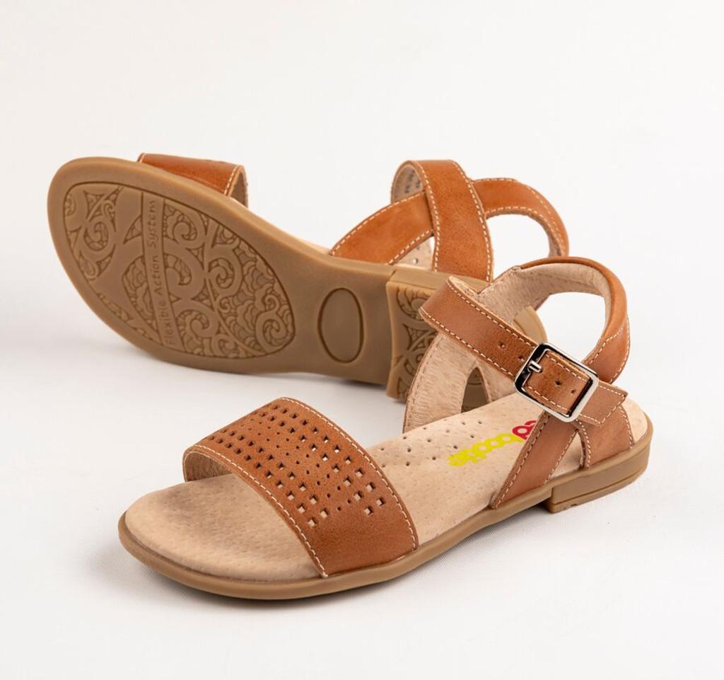 Sienna Girls leather sandal - Tan