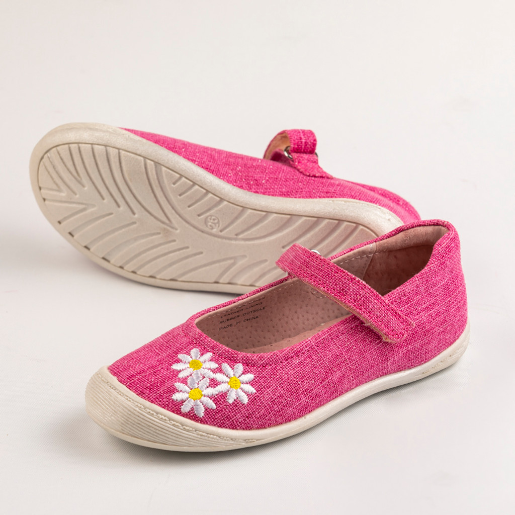 Miriam Girls Canvas Maryjane - Fuschia