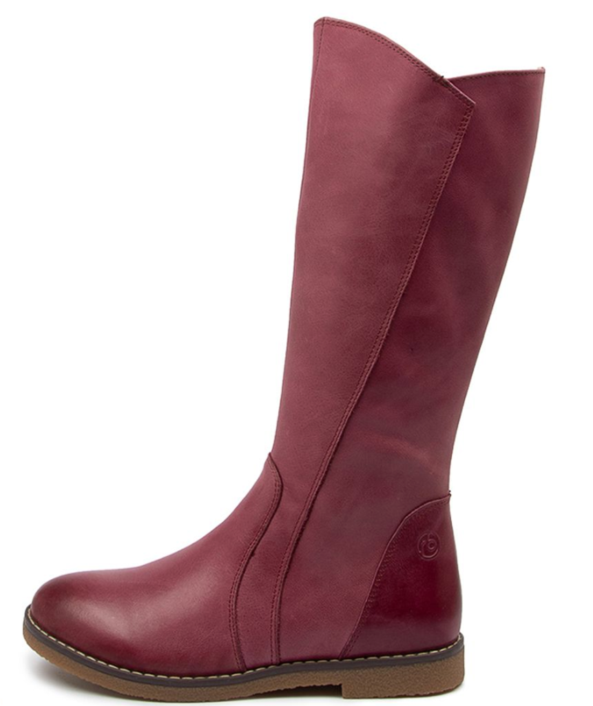 LILY B - Girls Long leather Boot - Fuschia