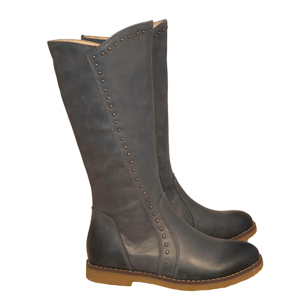LILILAN  - Girls Long leather Boot - Slate Blue