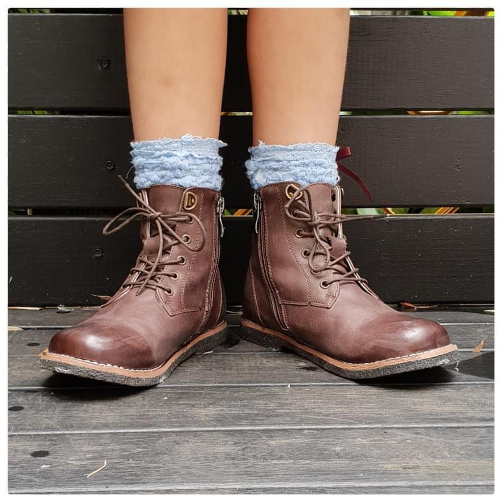 FRANKY - Unisex Leather Boot  - Aubergine