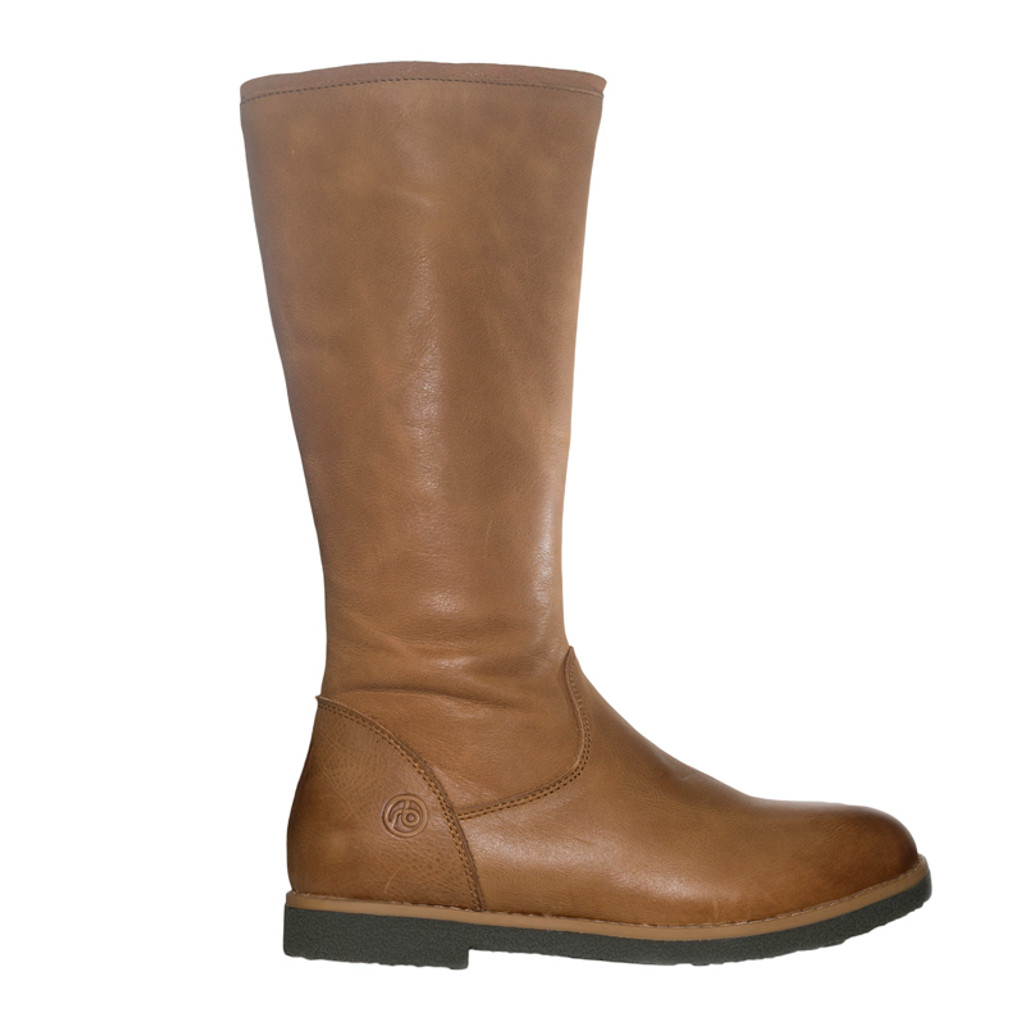 Natalia - Girls Leather long boot -Tan