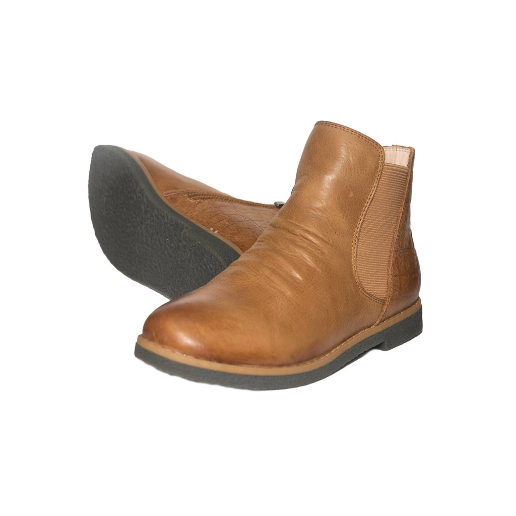 INDIA - Girls  Leather Ankle Boot - TAN