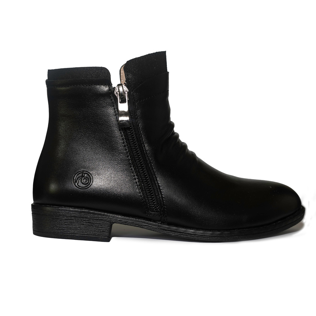 Hope Girls Leather Ankle Boot - Black