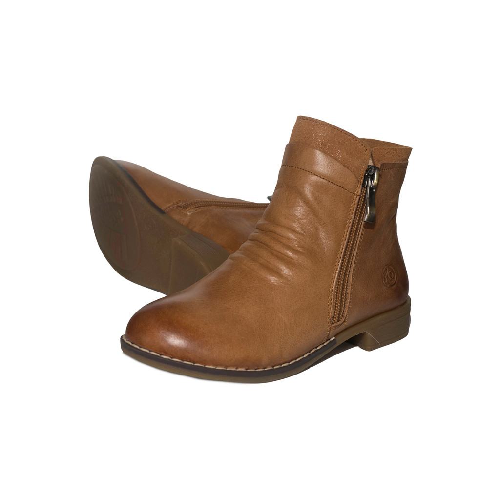 Hope Girls Leather Ankle Boot - Tan