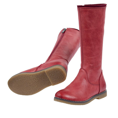 Grace long leather boot