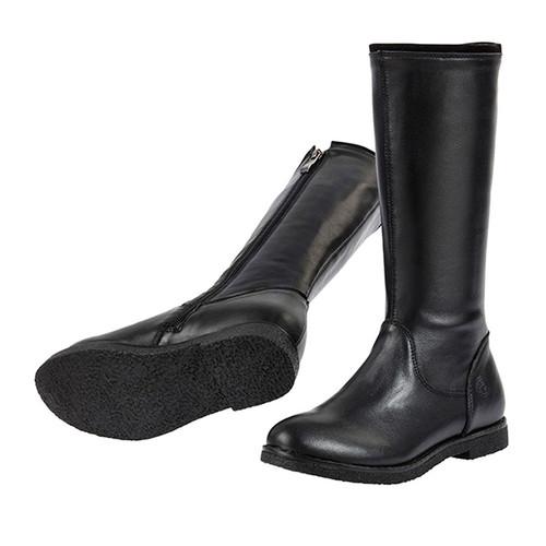 Grace Leather Long Boot - Black