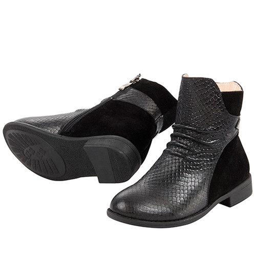 Valentine Girls Leather Ankle Boot