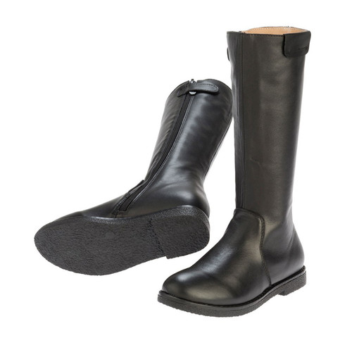 Lucy Girls Long Leather Boot - Black