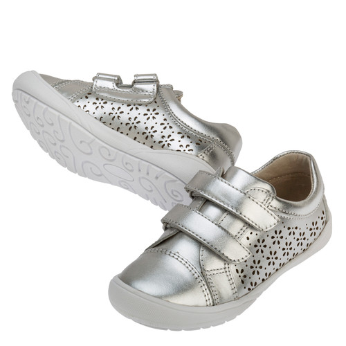 Rhonda Leather Casual Shoe - SIlver