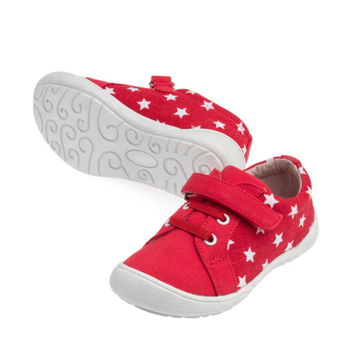 Drift Girls Canvas Casual Shoe - Red