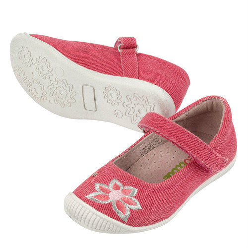Deanna Girls Canvas Maryjane - Coral
