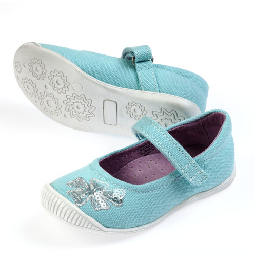 Chloe Girls Canvas Maryjane  Aqua