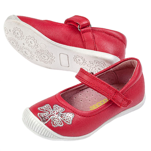 Chloe Girls Canvas Maryjane  - Red