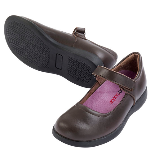 LIBERTY Leather Mary Jane School Shoe - Brown