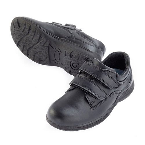 4SB Leather Velcro Shoe - Black