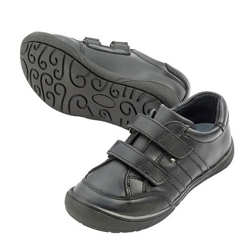 PAUL Leather Velcro Shoe - Black