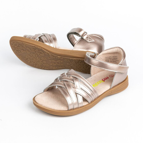 Izzy Girls Patent Leather Adjustable  Sandal - Bronze