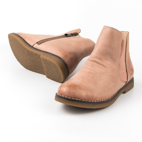 Sacha Girls leather ankle boot - Old Pink