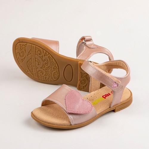 Georgia Girls Adjustable leather Sandal - Icy Pink