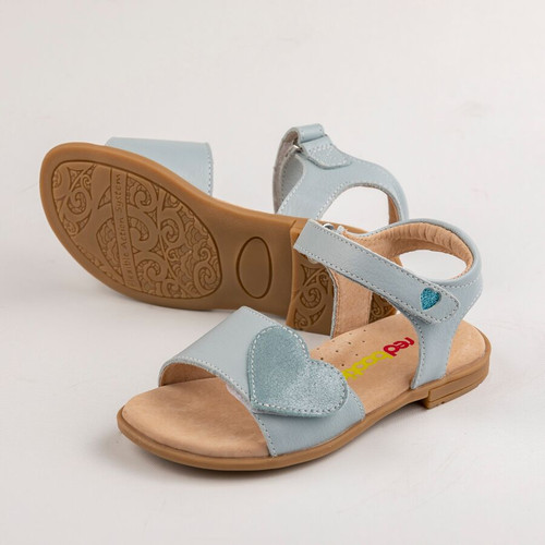 Georgia Girls Adjustable leather Sandal - Icy Blue