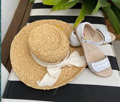 Makalie Girls Sandal  - White