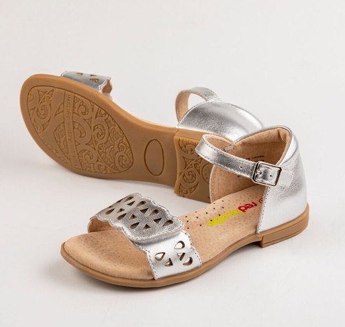 Makalie Girls Leather  Sandal  - Silver
