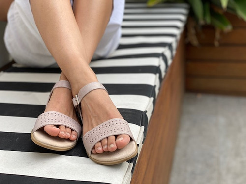 Sienna Girls leather sandal - Nude