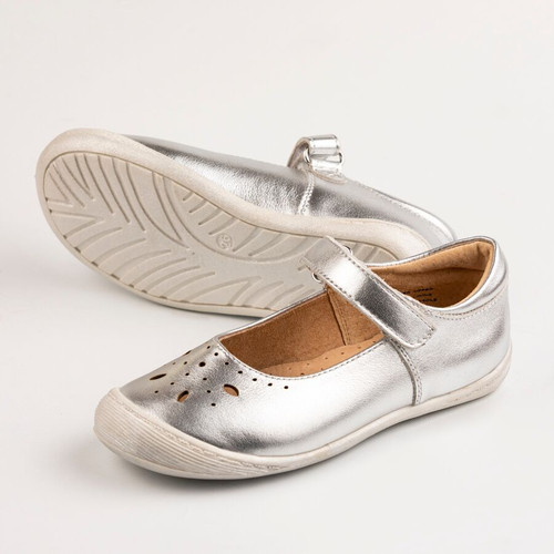Summer Girls Leather Maryjane - Silver