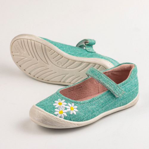 Miriam Girls Canvas Maryjane - Aqua