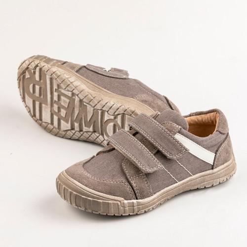 Ashley Boys Canvas  Shoe -  Grey