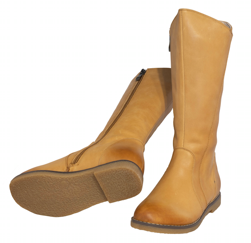 LILY B - Girls Long leather Boot - Tan