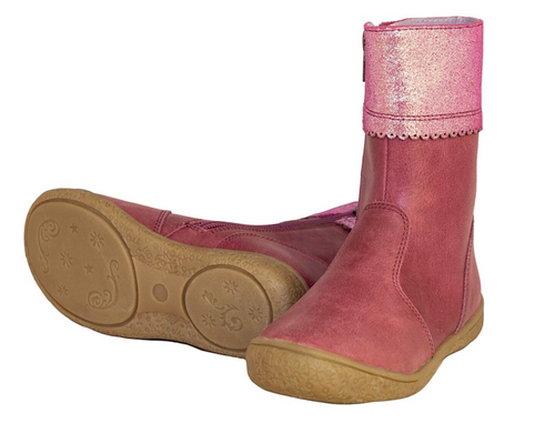 JULIA - Girls Leather boot - Fuschia