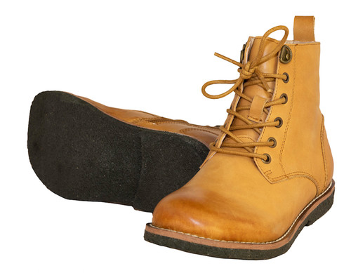Franky - Unisex Ankle Leather Boot - Tan