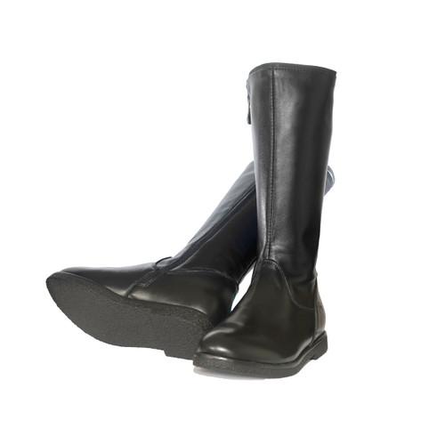 NATALIA - Girls Leather long boot -Black