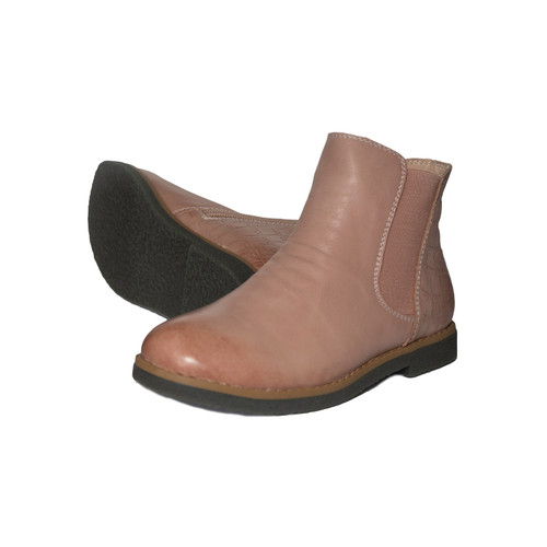 INDIA - Girls  Leather Ankle Boot - Old Pink