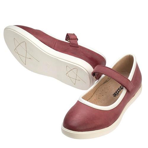 PETUNA  Girls leather Maryjane -  Fuschia