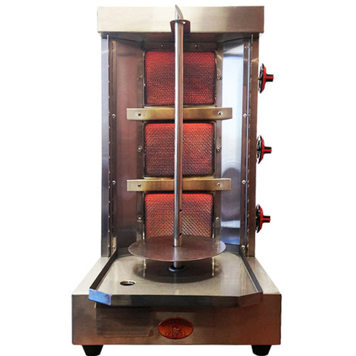 Spinning Grillers- Shawarma Machine- Vertical Broiler 3 Burners- Model SG2- 3 Burners- Generation 4