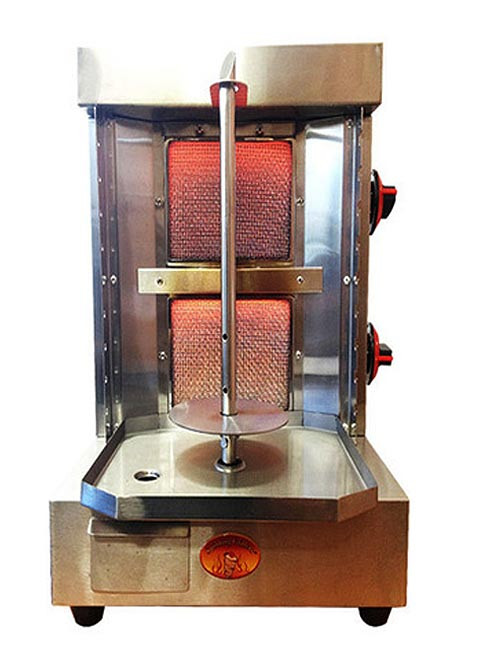 Shawarma Machine Vertical Broiler by Spinning Grillers- 5 in 1 Rotisserie Backyard Grill. Model SG1- 2 Burners