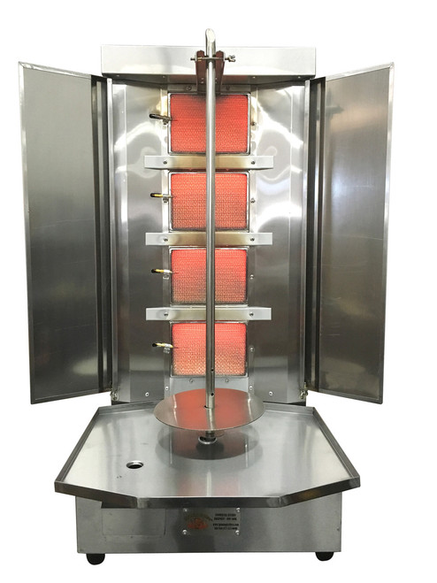 Spinning Grillers- Shawarma Machine- Vertical Broiler 4 Burners Portable. Model SG3- 4 Burners- Portable-Compact
