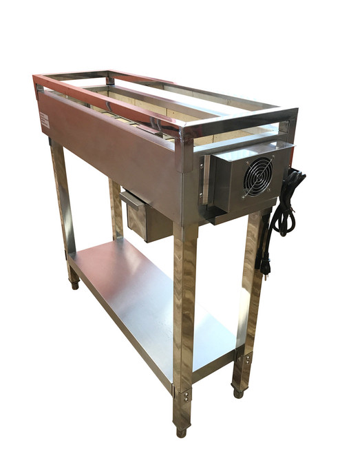 """Spinning  Grillers® Commercial Charcoal Kebab Grill 24""""x 12"""" x 36"""""""