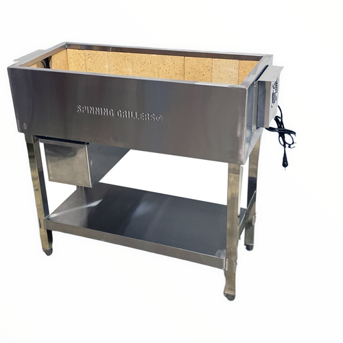"""Spinning Grillers® Commercial Charcoal Kebab Grill 36""""x 16"""" x 36"""""""