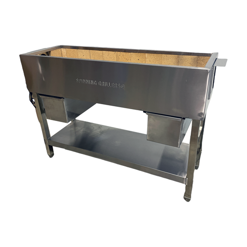 """Spinning  Grillers® Commercial Charcoal Kebab Grill 48""""x 16"""" x 36"""""""