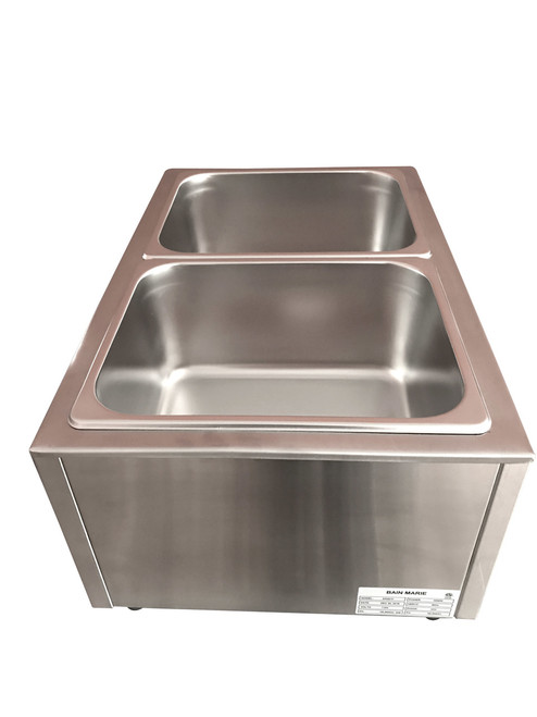 Shawarma Meat Warmer- Bain-Marie (two pans)
